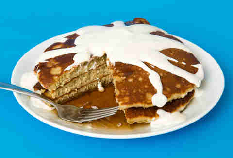 Pancakes with ranch on it