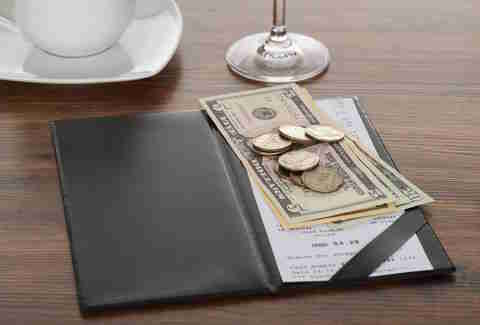 Tipping on a bill