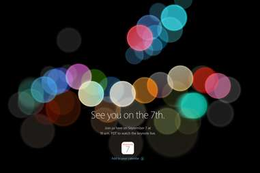 Apple 2016 Keynote Live Stream Page