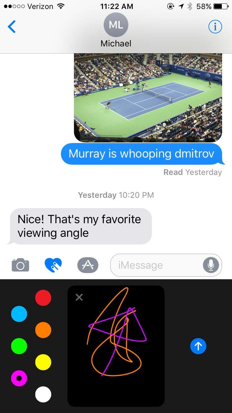 ios 10 iMessage screenshot