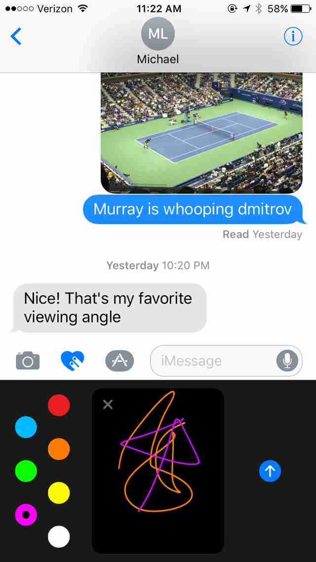 ios 10 iMessage screenshot