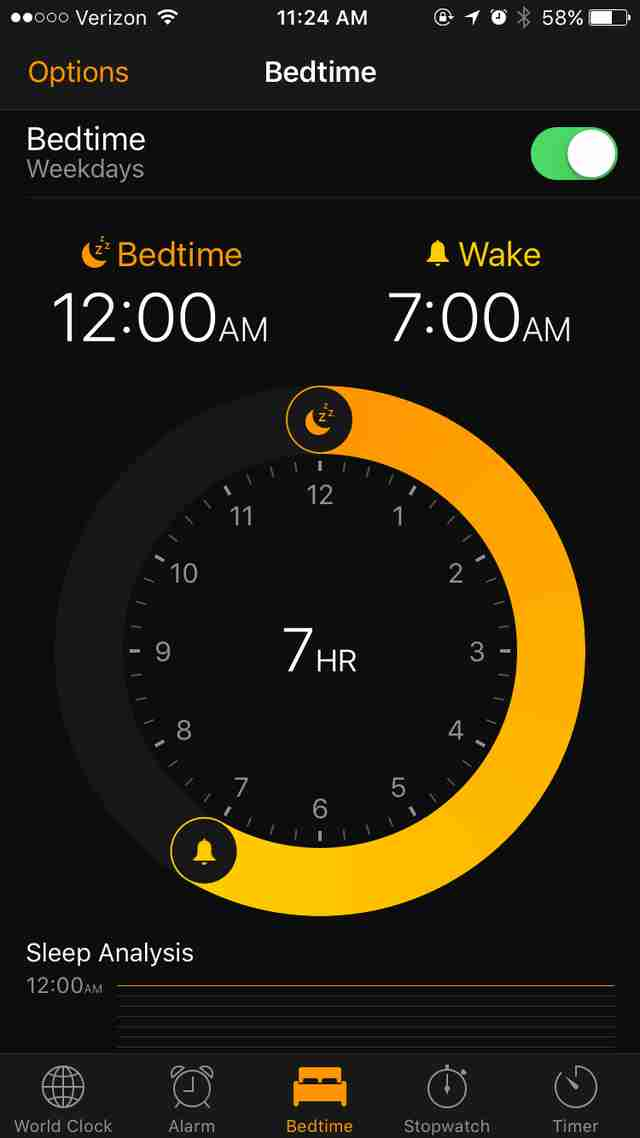 iOS 10 alarm clock app