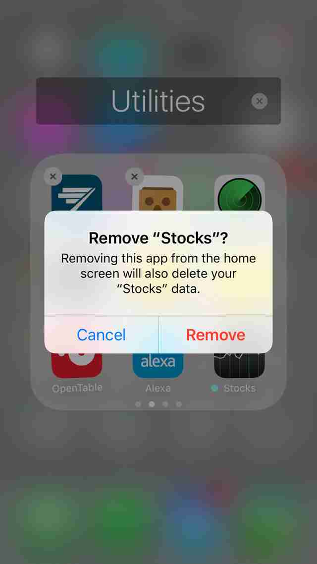 ios 10 delete stocks app screen