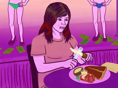 strip club food