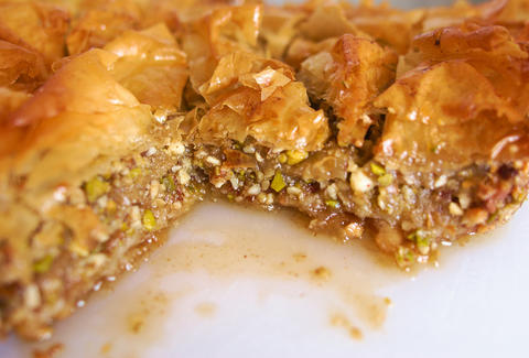 Baklava and authentic Greek food at Symposium in Morningside Heights NYC