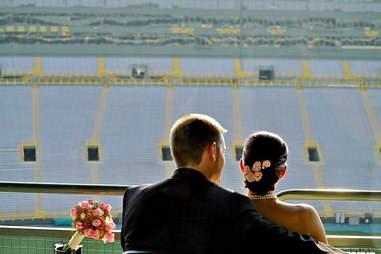 Wedding at Lambeau Field