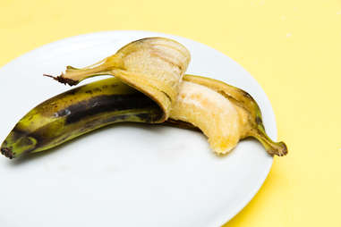 microwave-ripened banana