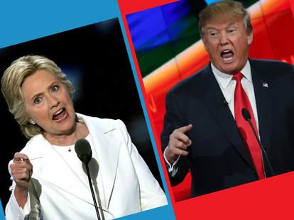 hillary and trump presidential debates