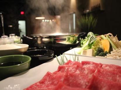 Japanese food and hookah lounge at Lotus in Exposition Park LA