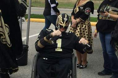 The Black and Gold Luchador