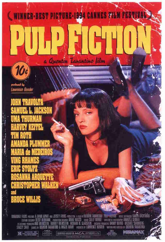 Pulp Fiction Poster Dorm Room