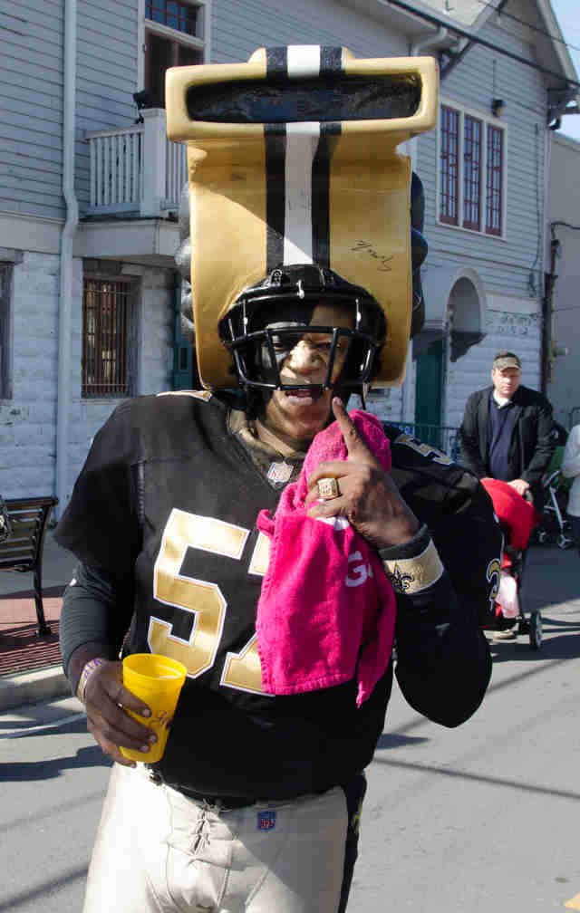 Funny Pictures Of New Orleans Saints Fans In Gear Thrillist