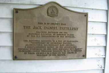 Jack Daniel's Distillery Plaque