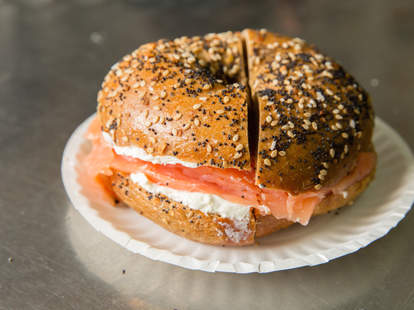 Breakfast at Absolute Bagels in Morningside Heights