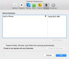 itunes iphone backup