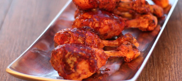 These Chicken Pops with Lacquered Red Sauce are Finger Lickin' Good