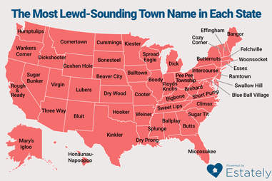 Lewdest Town Names in America
