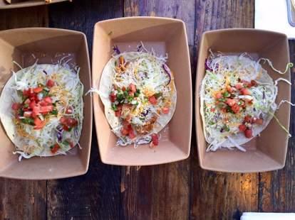 Mahi Mahi tacos at Hermosa Beach Fish Shop in LA