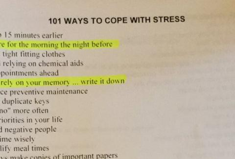 101 Ways to Cope With Stress