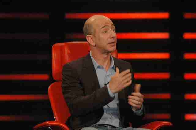 jeff bezos speaking on stage