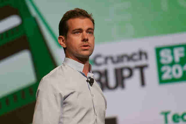 Jack dorsey speaking on stage