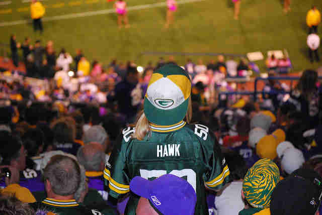 Packers fan in Minnesota