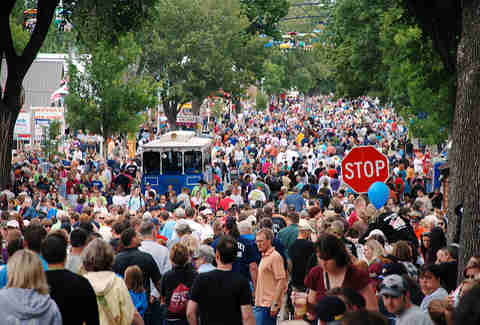 Minnesota State Fair crowd