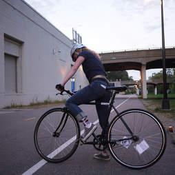 Minny Greenway biker