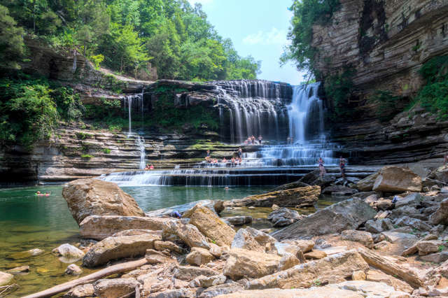 the best hiking trails with waterfall hikes near nashville tn