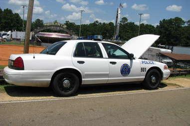 Broken Down Cop car