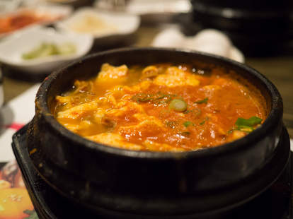 Great late night food and beef stew in Koreatown LA at BCD Tofu House