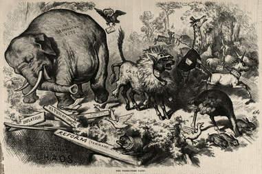 republican elephants democrat donkeys