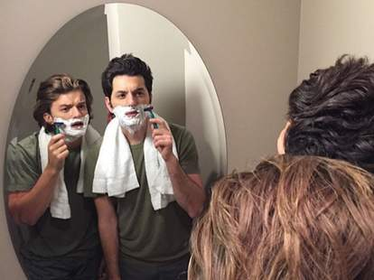 Steve from Stranger Things and Jean-Ralphio