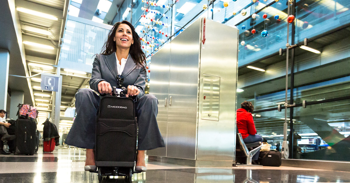 Modobag the motorized carry on suitcase you can ride is for Motorized ride on suitcase