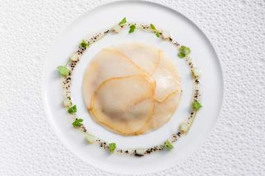 Pear raviolo
