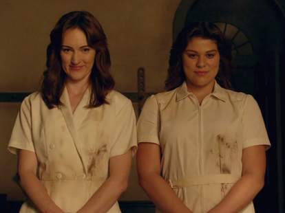 american horror story season 6 roanoke the twins nurses