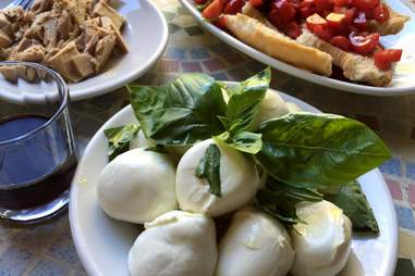 Mozzarella At the Italian Table