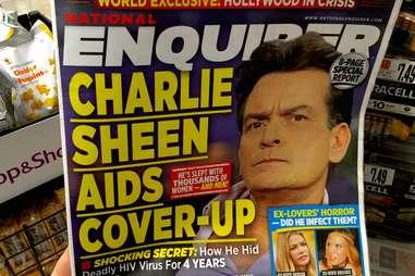 Charlie sheen national enquirer