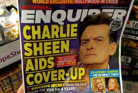 Charlie sheen national enquirer