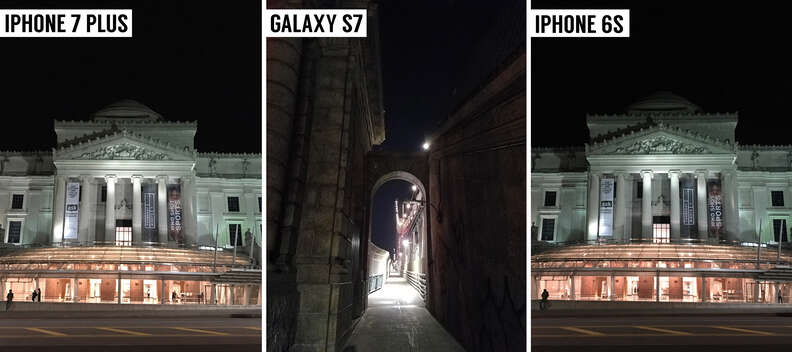 smartphone camera test at night