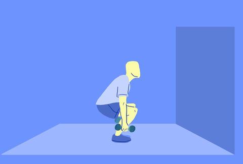 Dumbbell squat