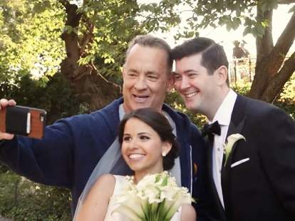 Tom Hanks Wedding Selfie