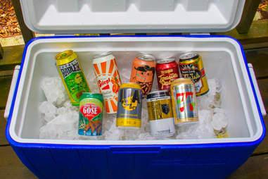 Beer in a cooler