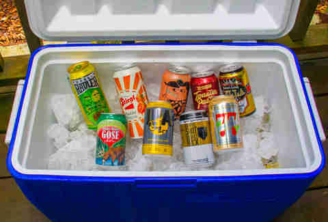Beer in a cooler