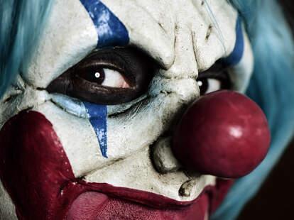 creepy scary clown
