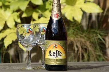 leffe blonde belgian beer