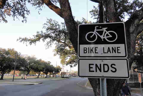 New Orlean's Bike Lane