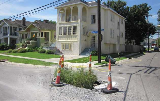 Only in New Orleans Could a Sinkhole Become a Party
