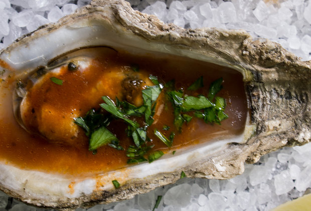 Aw, Shucks: We Love These Bloody Mary Charbroiled Oysters