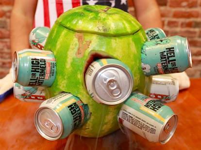 watermelon beer cooler